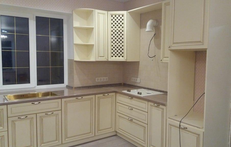 Белый кухонный гарнитур-Кухня МДФ в ПВХ «Модель 69»-фото2