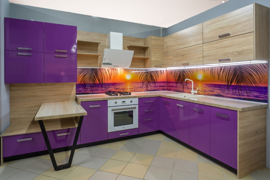 Белый кухонный гарнитур-Кухня МДФ в ПВХ «Модель 45»-фото1