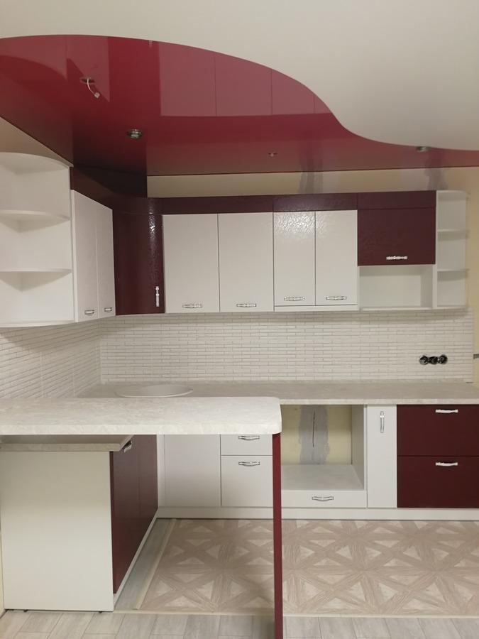 Встроенная кухня-Кухня МДФ в эмали «Модель 18»-фото2