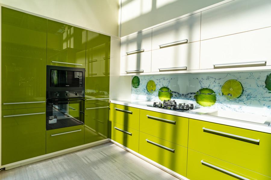 Глянцевые кухни-Кухня МДФ в ПВХ «Модель 53»-фото1