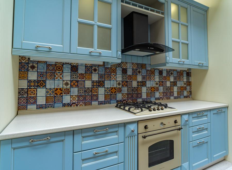Встроенная кухня-Кухня МДФ в ПВХ «Модель 54»-фото2
