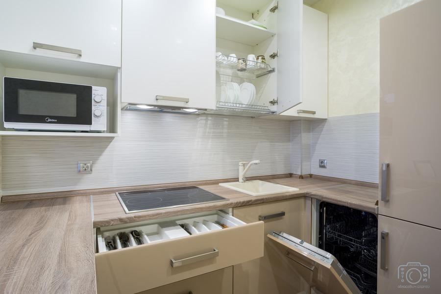 Белый кухонный гарнитур-Кухня из пластика «Модель 1»-фото7