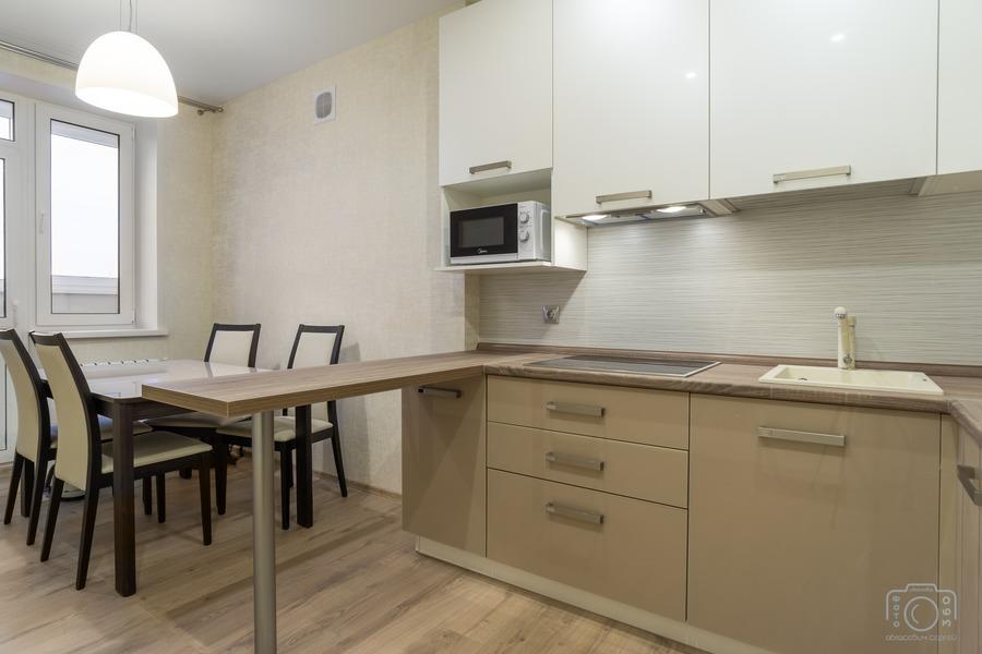 Белый кухонный гарнитур-Кухня из пластика «Модель 1»-фото3
