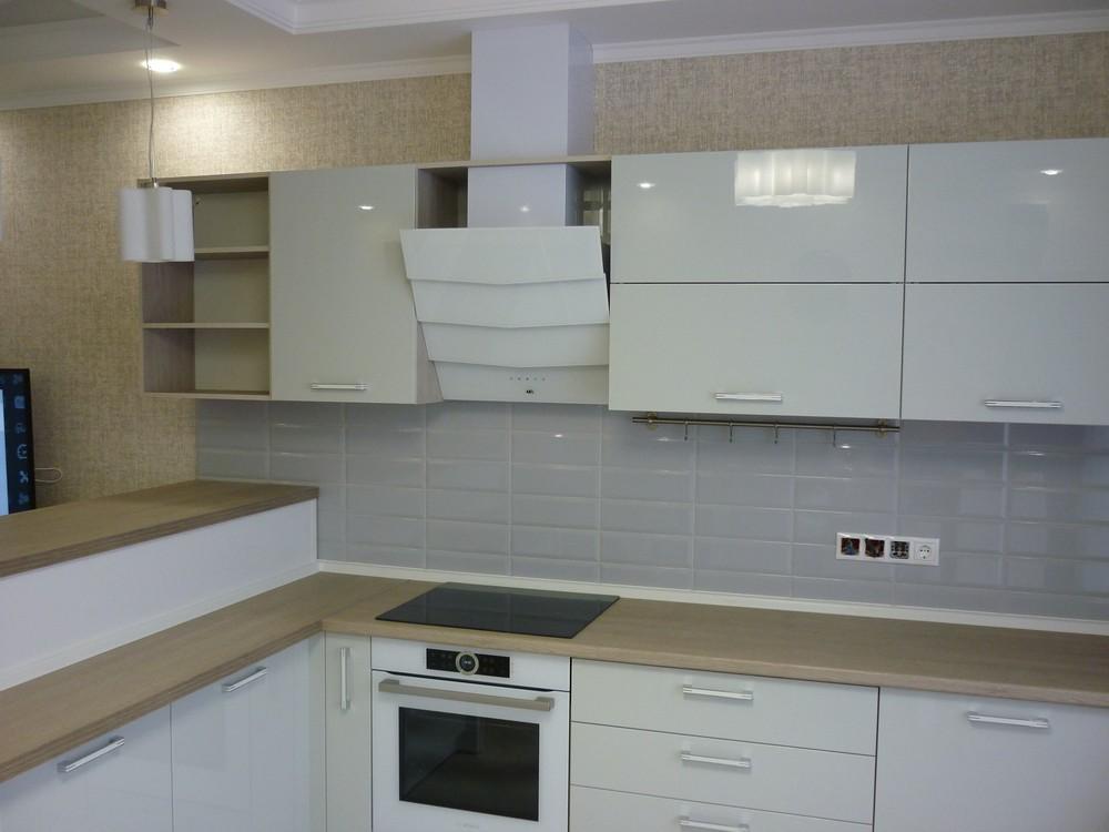 Акриловые кухни-Кухня из пластика «Модель 319»-фото2