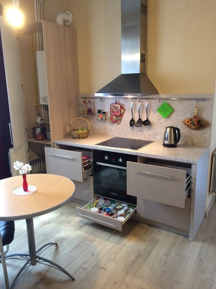 Акриловые кухни-Кухня из пластика «Модель 104»-фото9