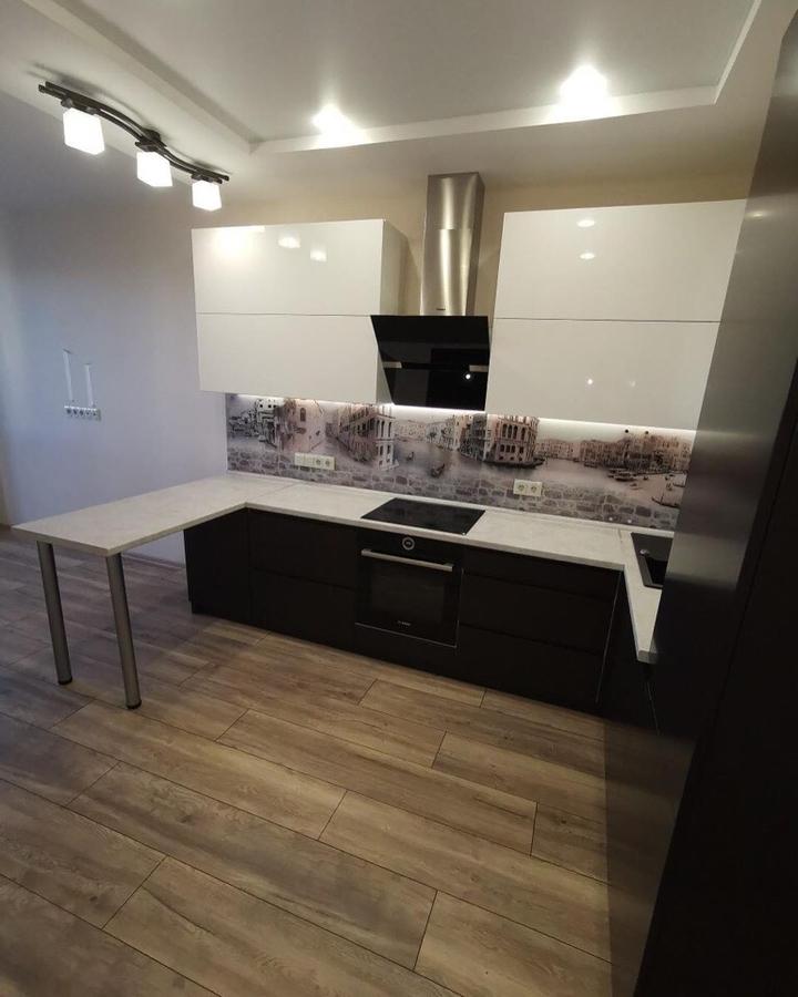 Белый кухонный гарнитур-Кухня МДФ в пленке ПВХ «Модель 93»-фото2
