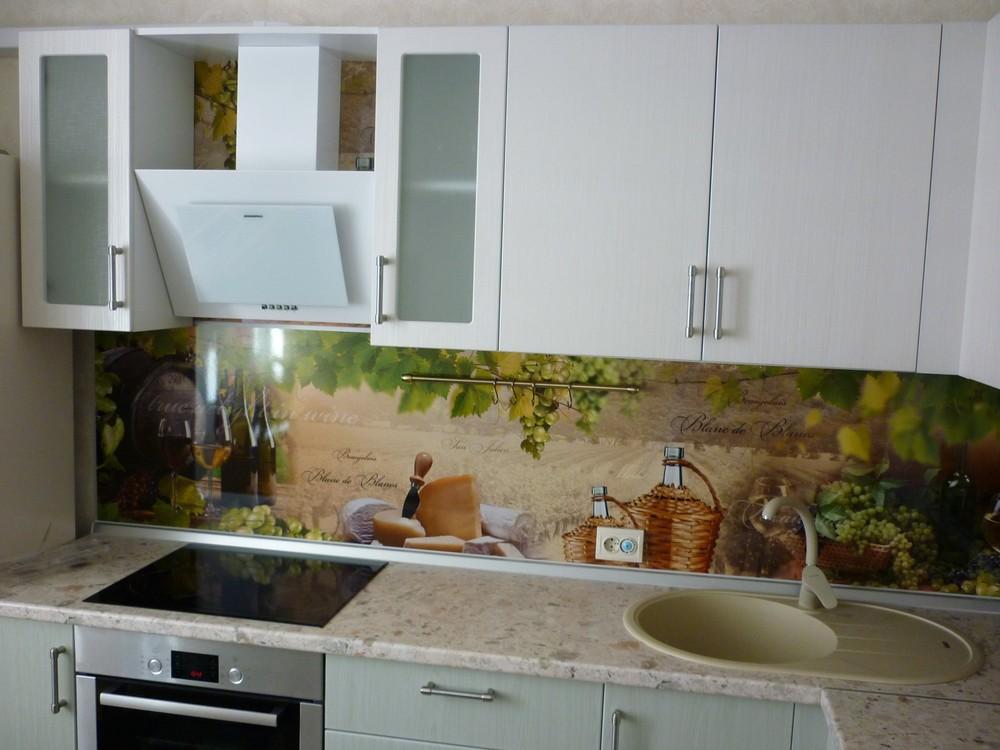 Белый кухонный гарнитур-Кухня МДФ в ПВХ «Модель 216»-фото1