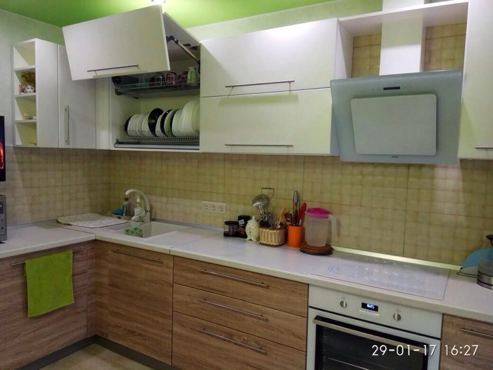 Встроенная кухня-Кухня МДФ в ПВХ «Модель 220»-фото2