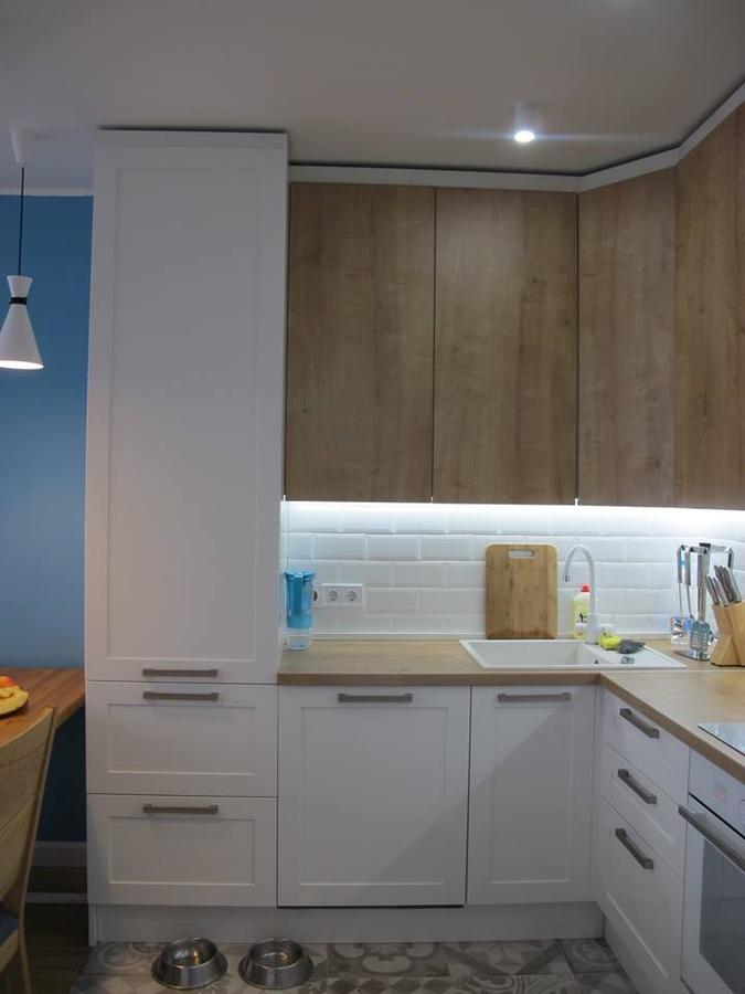 Белый кухонный гарнитур-Кухня из ЛДСП «Модель 346»-фото2
