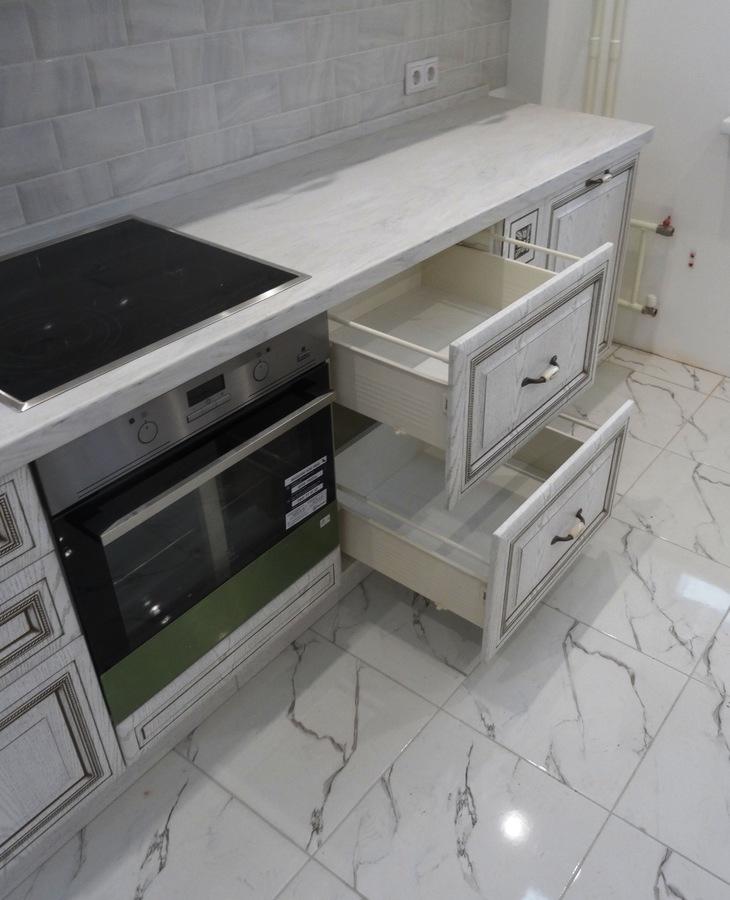 Белый кухонный гарнитур-Кухня МДФ в ПВХ «Модель 515»-фото5