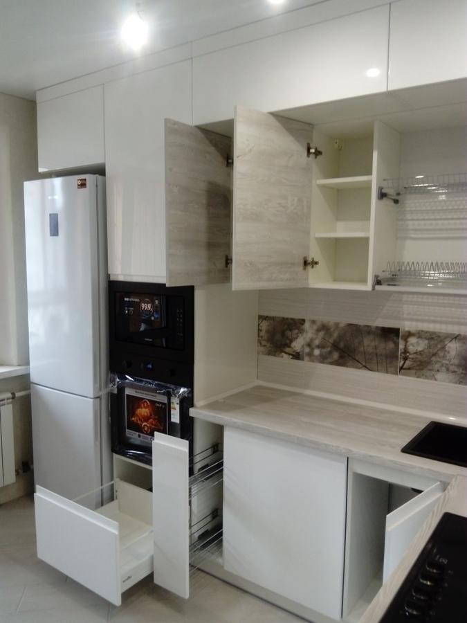 Белый кухонный гарнитур-Кухня МДФ в эмали «Модель 429»-фото6