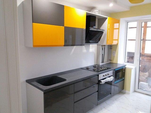 Глянцевые кухни-Кухня МДФ в эмали «Модель 401»-фото1