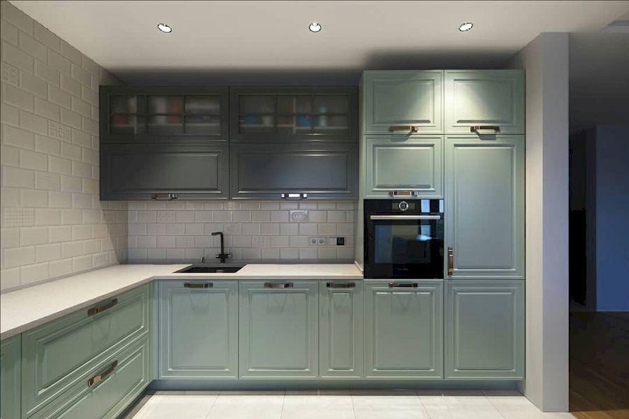 Классические кухни-Кухня МДФ в эмали «Модель 683»-фото1
