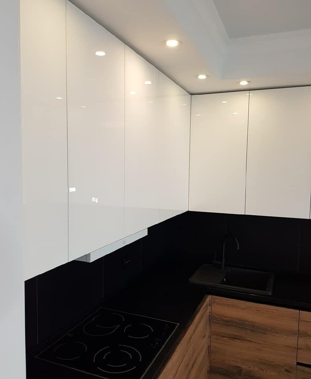 Белый кухонный гарнитур-Кухня МДФ в эмали «Модель 629»-фото6