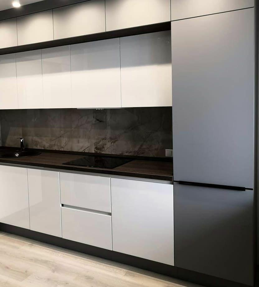 Белый кухонный гарнитур-Кухня МДФ в эмали «Модель 636»-фото3