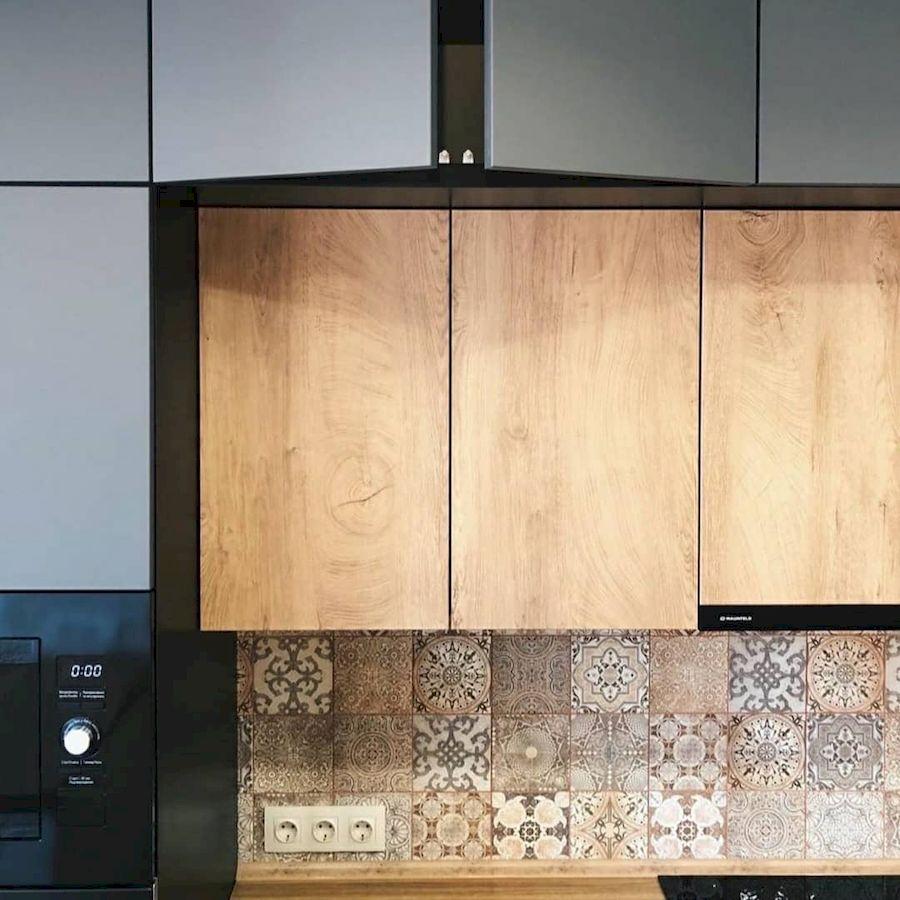 Высокие кухни под потолок-Кухня МДФ в эмали «Модель 676»-фото5