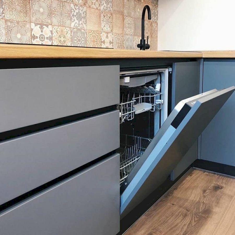 Высокие кухни под потолок-Кухня МДФ в эмали «Модель 676»-фото6