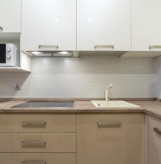 Белый кухонный гарнитур-Кухня из пластика «Модель 1»-фото10