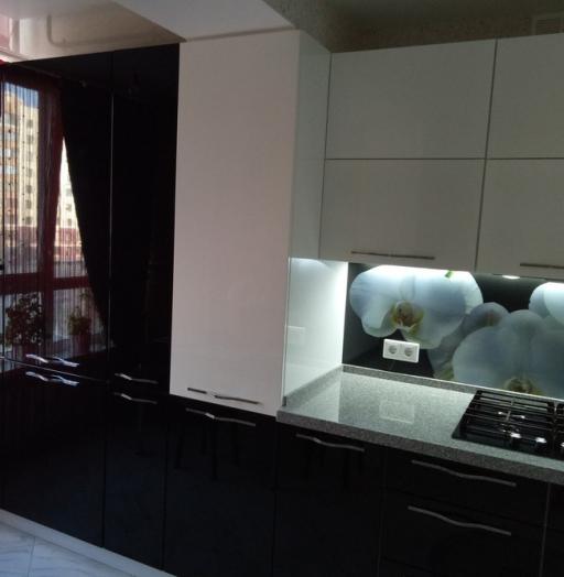 Белый кухонный гарнитур-Кухня из пластика «Модель 382»-фото4