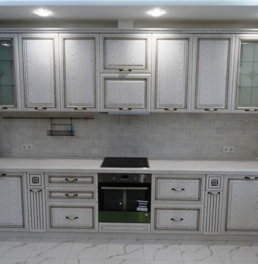 Белый кухонный гарнитур-Кухня МДФ в ПВХ «Модель 515»-фото7