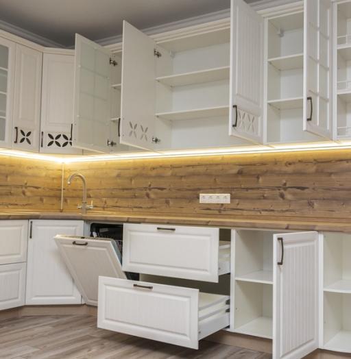 Белый кухонный гарнитур-Кухня МДФ в ПВХ «Модель 10»-фото14