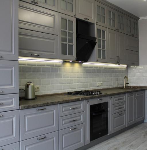 Белый кухонный гарнитур-Кухня МДФ в ПВХ «Модель 183»-фото9