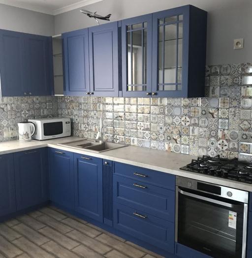 Классические кухни-Кухня МДФ в эмали «Модель 620»-фото4